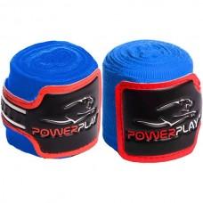 Бинты для бокса PowerPlay Blue 4m, код: PP_3046_4m_Blue
