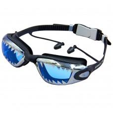 Окуляри для плавання Aqua Spdo з беруші в комплекті S87AD SHARK (полікарбонат, TPR, силікон, кольори в асортименті), код: S87AD-S52