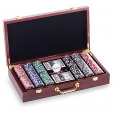 Набор для покера в MDF чемодане PlayGame Las Vegas 410х220х85 мм, код: W300N-S52