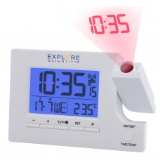 Годинники проекційні Explore Scientific Slim Projection RC Dual Alarm White (RDP1003GYELC2), код: 928649-SVA