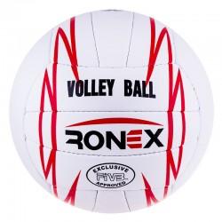 М'яч волейбольний Ronex Orignal Grippy Red/Black, код: RXV/12