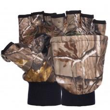 Рукавички-рукавиці флісові для риболовлі Tactical M-XL, камуфляж, код: A-444-S52