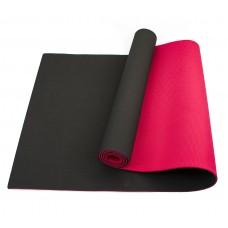Коврик для йоги та фітнесу Sportcraft TPE Black/Red 1830х610х6 мм, код: ES0018