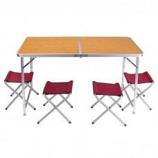 Стіл туристичний + 4 стільця Camping, код: HX-9004D