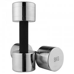Гантель хромована FitGo 1х8 кг, код: 80034C-8