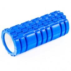Ролик для йоги, пилатеса, фитнеса 450х140 мм синий, код: YR-4514B