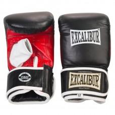 Рукавички боксерські снарядні Excalibur M чорний/червоний/білий, код: 604/M/20