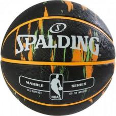 Мяч баскетбольный Spalding NBA Marble Outdoor Black/Orange/Green, код: 3001550100017S
