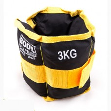 Утяжелители Body Sculpture черно-желтый 2х1,5 кг, код: 87216-3-WS