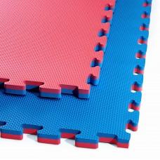Мат-пазл ласточкин хвост 4Fizjo Mat Puzzle EVA Blue/Red 1000x1000x20 мм, код: 4FJ0167
