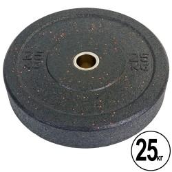 Бамперні диски для кроссфіта Record Raggy Bumper Plates з структурної гуми 25кг (d-51мм), код: TA-5126-25-S52