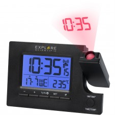 Годинники проекційні Explore Scientific Slim Projection RC Dual Alarm Black (RDP1003CM3LC2), код: 928650-SVA