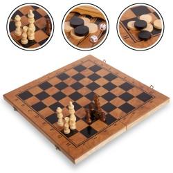 Шахматы, шашки, нарды 3 в 1 ChessTour, код: S3029