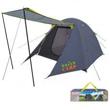 Палатка 3-местная GreenCamp 3150х2150х1600 мм, код: GC1015-WS