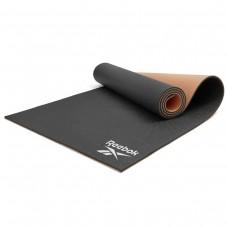 Мат для йоги Reebok чорний/бежевий, код: RAYG-11060BKDD