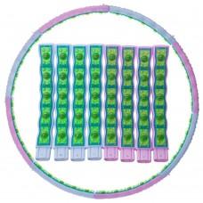 Обруч масажний FitGo Hula HoopDouble Grace Magnetic 1100 мм, код: JS-6019