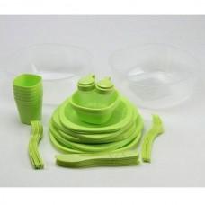 Набор туристической посуды Green Camp, код: GC-139/54G