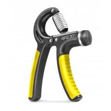 Эспандер кистевой пружинный с регулируемой нагрузкой 4Fizjo Black/Yellow 10-40 кг, код: 4FJ0160
