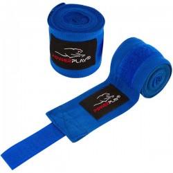 Бинти для боксу PowerPlay Blue/Black 3m, код: PP_3046_3m_Blue