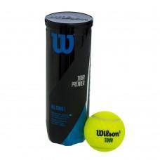 М'яч для великого тенісу Wilson (3шт) WRT109400 TOUR PREMIER ALL COURT (у вакуумній упаковці, салатовий), код: WRT109400-S52