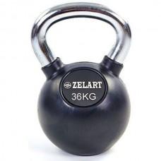 Гиря обрезиненная Zelart 36 кг., art: TA-5162-36