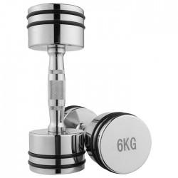 Гантель хромированная 1х6 кг, код: 80034D-6
