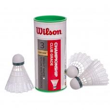 Волани для бадмінтону нейлонові Wilson Championship 3шт., Код: WRT6040-S52