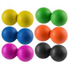 М'яч масажний FitGo подвійний 120х60 мм., Код: 84068-WS