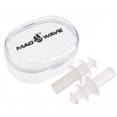 Беруші для плавання MadWave в пластиковому футлярі, білий, код: M071501-S52