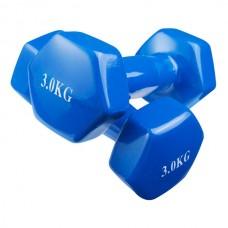 Гантелі вінілові для фітнесу IronMaster 2х3 кг, код: 80022-V3-WS