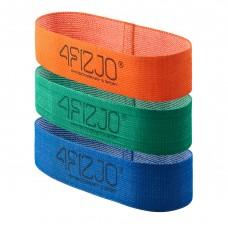 Резинка для фитнеса и спорта тканевая 4Fizjo Flex Band 3 шт 1-15 кг, код: 4FJ0126