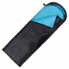 Спальний мішок (ковдра) SportVida +2 ...+ 21°C R Black/Sky Blue, код: SV-CC0062