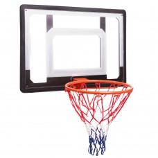Щит баскетбольный PlayGame с кольцом и сеткой 800x580 мм, код: S010-S52