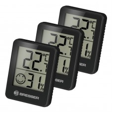 Термометр-гігрометр Bresser Temeo Hygro Indicator Black (3шт), код: 928814-SVA