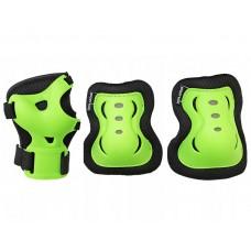 Комплект защитный SportVida Black/Green Size L, код: SV-KY0001-L