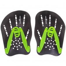 Лопатки для плавання гребні MadWave Paddies SL, чорний-зелений, код: M074906-S52