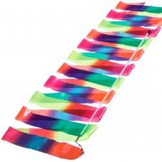Стрічка для художньої гімнастики Beauty Радуга 6 м, код: C-1658