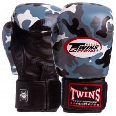 Перчатки боксерские кожаные Twins 12-14oz, код: FBGVL3-ARGY