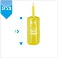 Мішок боксерський Boyko-Sport Юніор 40х20 см жовтий, код: bs04094401-BK