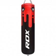 Боксерський мішок RDX Leather Black/Red 1.5 м, 45-55 кг, код: 40276