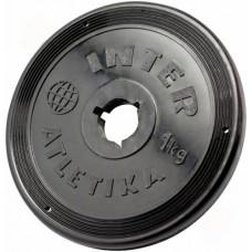 Диск InterAtletika чорний 1 кг, код: SТ520.2