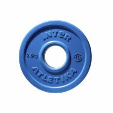 Диск прогумований InterAtletika синій 2,5 кг, код: LCA030-M