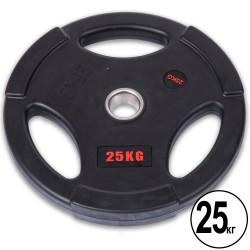 Диски обгумовані Life Fitness з потрійним хватом і металевою втулкою 25кг (d-51мм), код: SC-80154B-25-S52