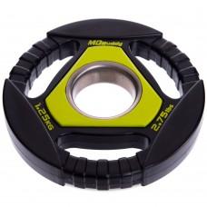 Блины (диски) полиуретановые Modern с тройным хватом 1,25 кг, код: TA-2677-1_25-S52