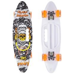 Скейтборд круизер пластиковый со светящимися колесами PLAYBABY 600x170 мм, код: SK-885-4