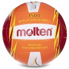 М'яч для пляжного волейболу Molten №5, код: V5B1500-OR-SH-S52