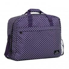 Сумка дорожня Members Essential On-Board Travel Bag Purple Polka 40 л, код: 927840