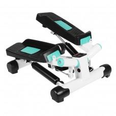 Міні-степпер поворотний з еспандерами SportVida White/Turquoise, код: SV-HK0359