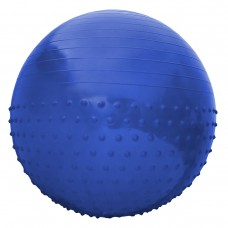Мяч для фитнеса (фитбол) полумассажный SportVida Anti-Burst Blue 65 см, код: SV-HK0292