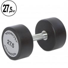 Гантель цельная профессиональная TechnoGym 1х27,5 кг, код: TG-1834-27_5